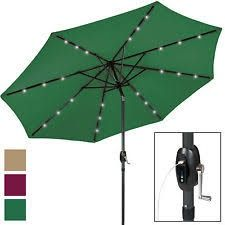 10'Deluxe Solar Led light patio umbrella with powder USB and tilt adjustment   JYF-300SUB